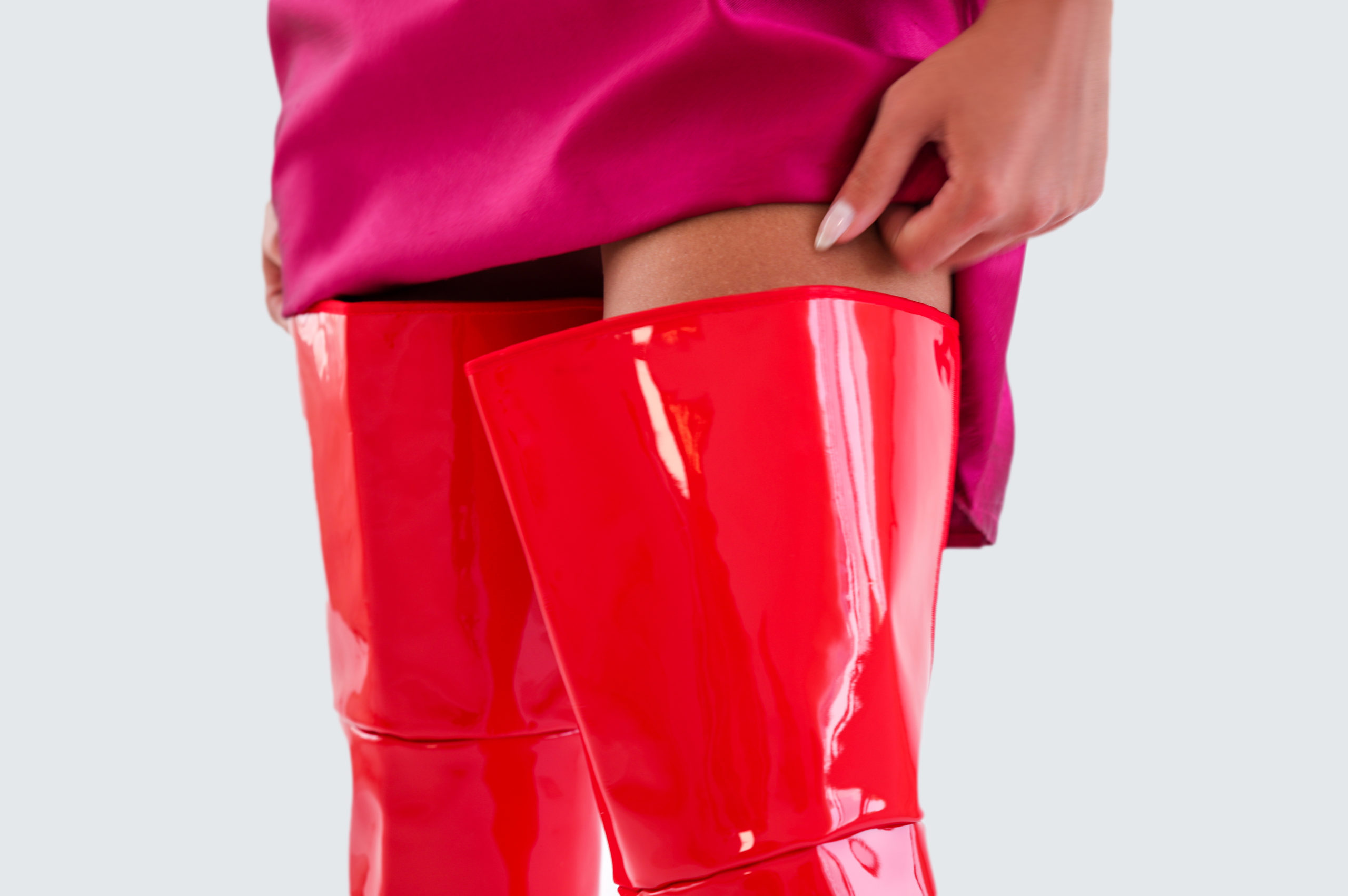 Aspect Dore Red Patent Leather boot - 31 Store